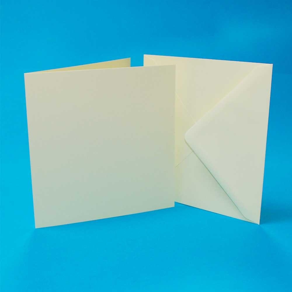 Square Ivory Card Blanks & Envelopes 4 x 4