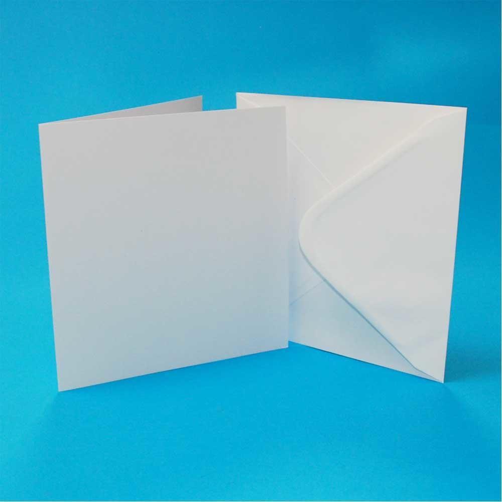 Square White Card Blanks & Envelopes 4 x 4