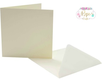 7 x 7 Square Ivory Card Blanks & Envelopes
