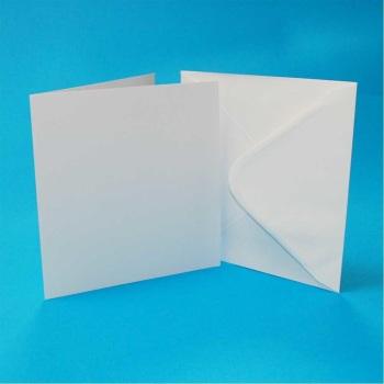 3 x 3 Square White Card Blanks & Envelopes