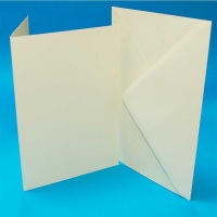 A6/C6 Ivory Card Blanks & Envelopes
