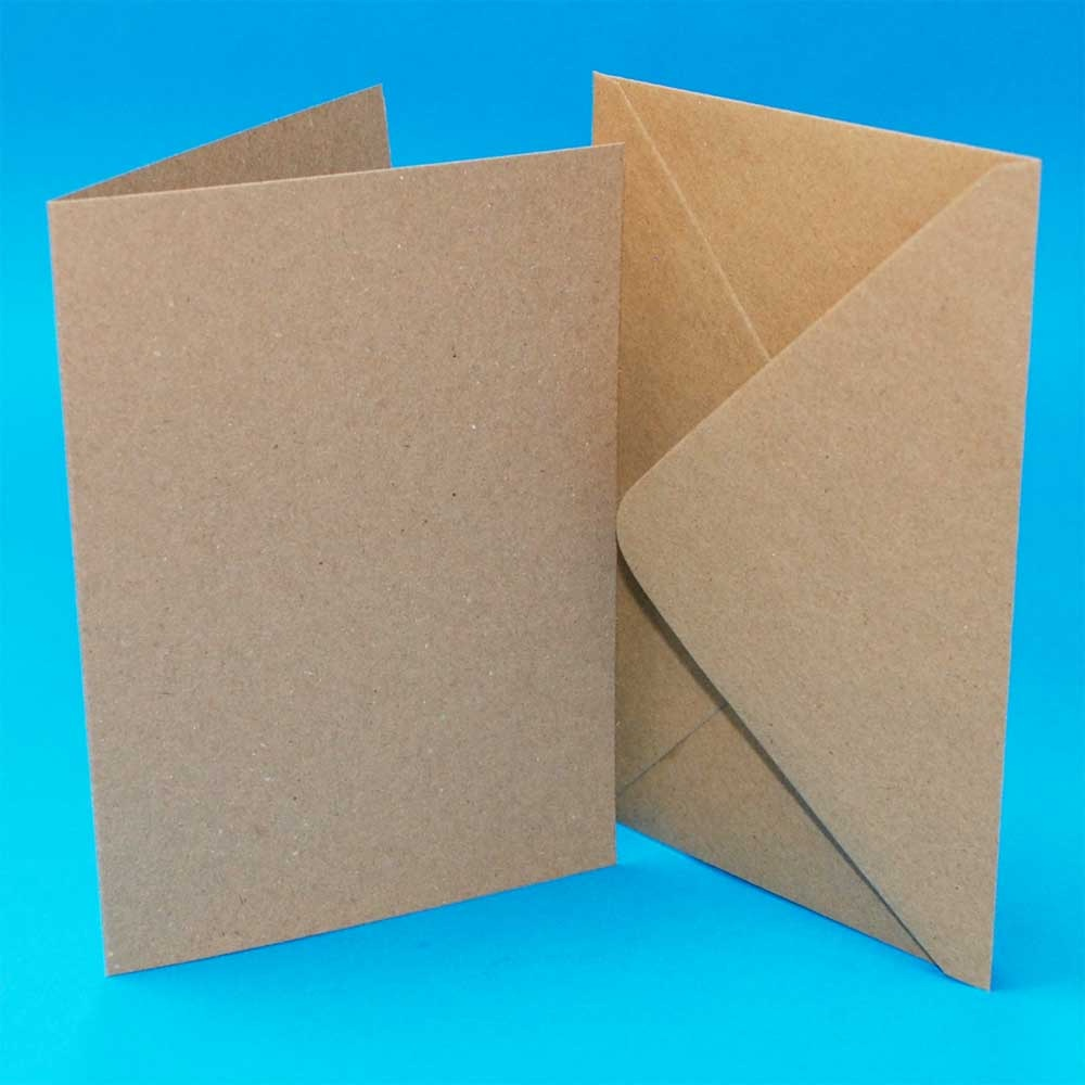 A6/C6 Kraft Card Blanks & Envelopes
