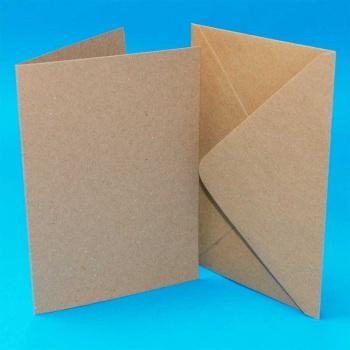 A6/C6 Kraft Card Blanks & Envelopes