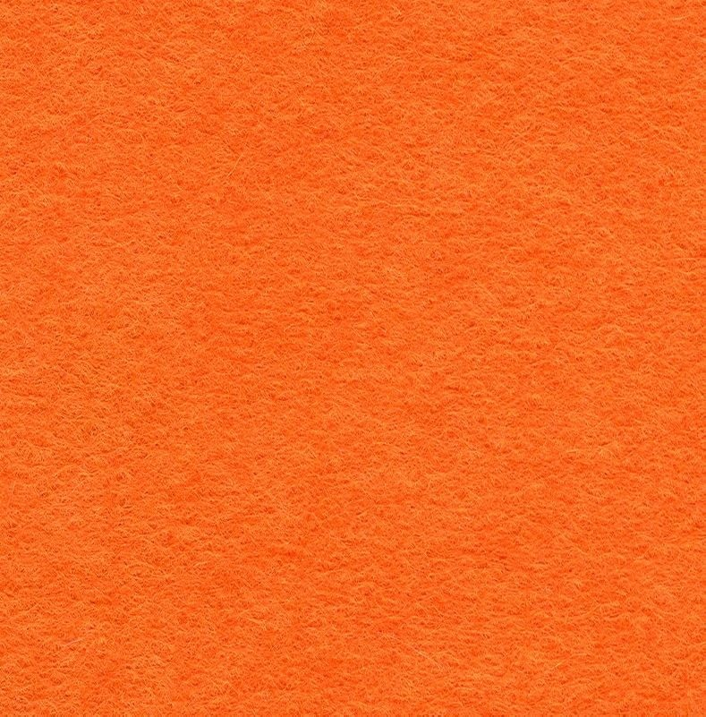 Wool Blend Felt Squares 9 x 9 Inch (2 Pack) - Tango Orange
