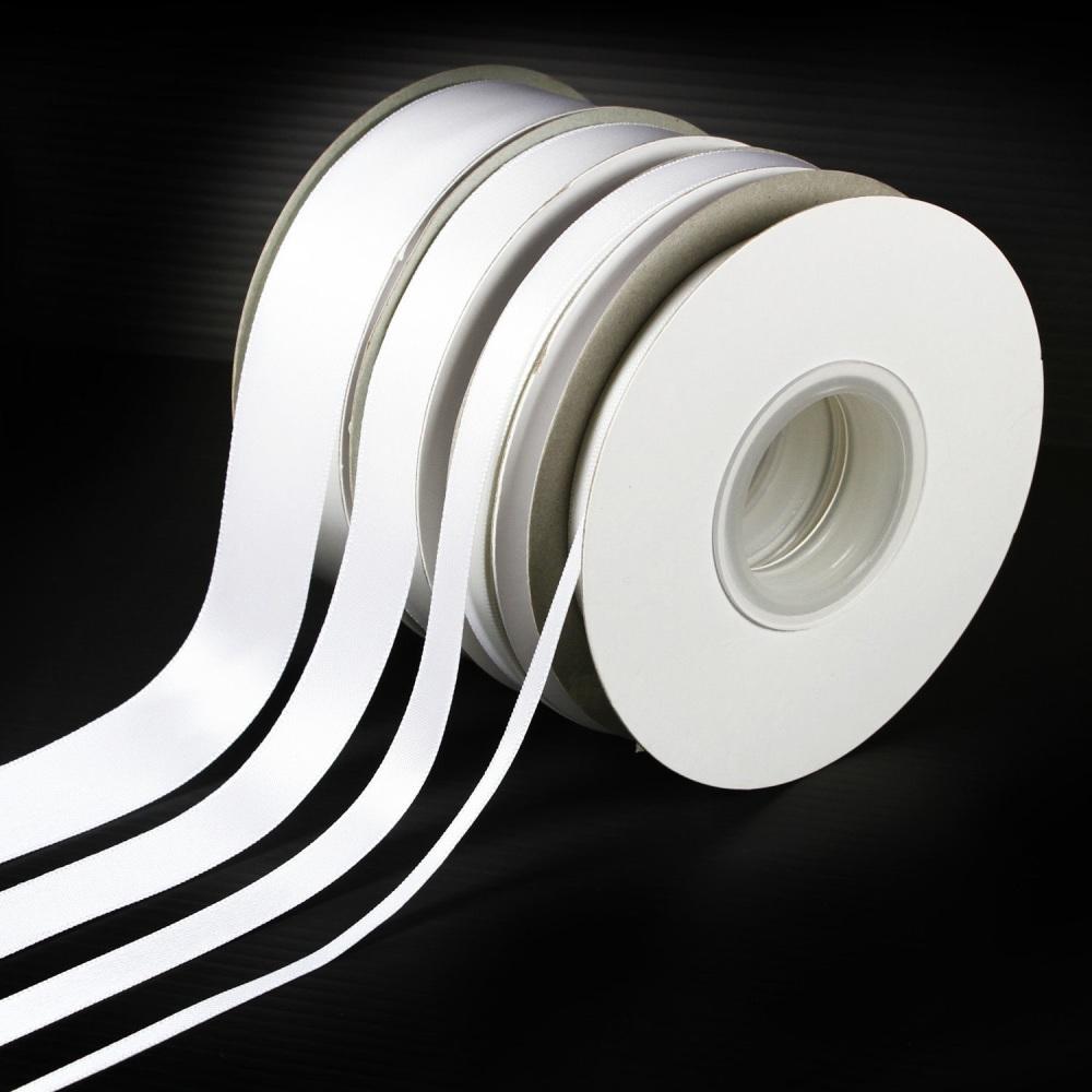 5 Metres Quality Double Satin Ribbon 3mm Wide - White