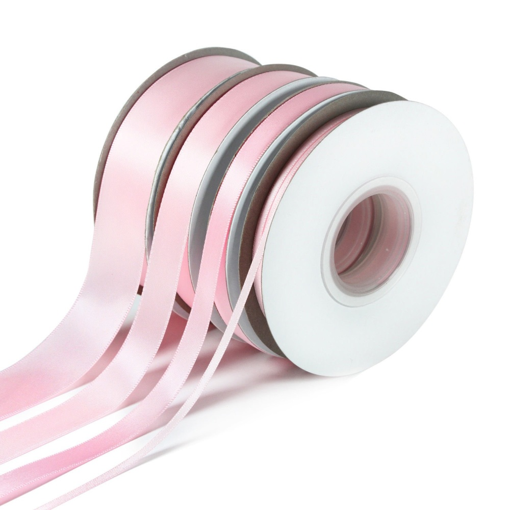 5 Metres Quality Double Satin Ribbon 3mm Wide - Light Pink