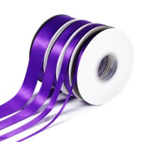 5 Metres Quality Double Satin Ribbon 3mm Wide - Purple