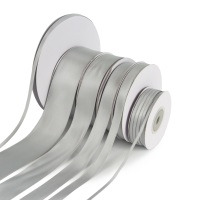 5 Metres Quality Double Satin Ribbon 3mm Wide - Silver Grey