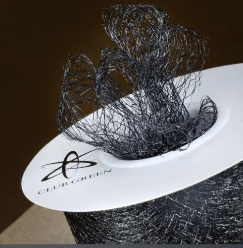 Spiders Web Mesh/Net Ribbon 35mm Wide - Black