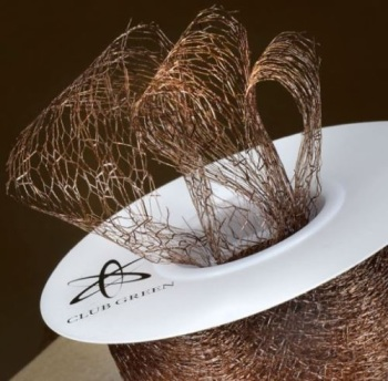 Spiders Web Mesh/Net Ribbon 35mm Wide - Brown