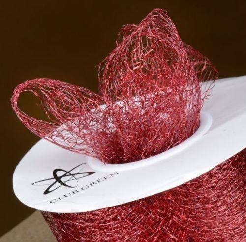 Spiders Web Mesh/Net Ribbon 35mm Wide - Burgundy