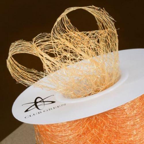 Spiders Web Mesh/Net Ribbon 35mm Wide - Orange