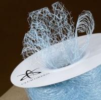 Spiders Web Mesh/Net Ribbon 35mm Wide - Light Blue