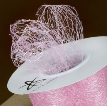 Spiders Web Mesh/Net Ribbon 35mm Wide - Light Pink