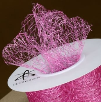 Spiders Web Mesh/Net Ribbon 35mm Wide - Fuchsia