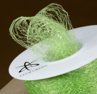 Spiders Web Mesh/Net Ribbon 35mm Wide - Lime Green