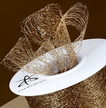 Spiders Web Mesh/Net Ribbon 35mm Wide - Antique Gold