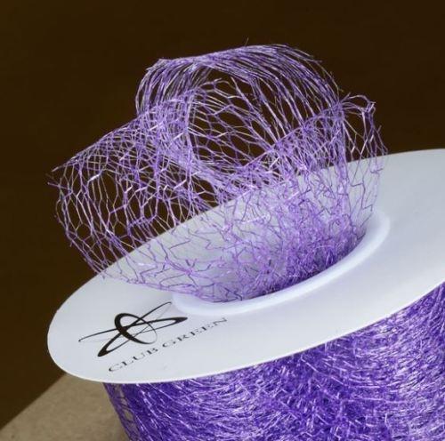 Spiders Web Mesh/Net Ribbon 35mm Wide - Purple
