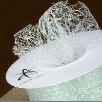 Spiders Web Mesh/Net Ribbon 35mm Wide - Light Sage Green
