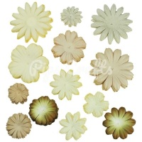 Mulberry Paper Flower Blooms - Mixed Earth/Natural