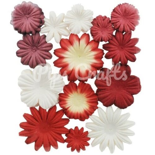 Mulberry Paper Flower Blooms - Mixed Reds