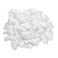 Padded Fabric Mini Love Hearts 20mm - White