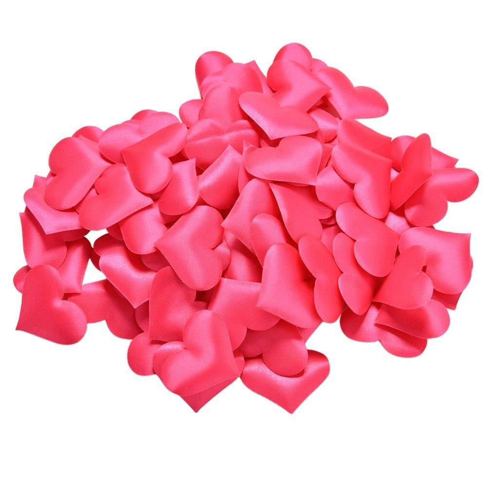 Padded Fabric Mini Love Hearts 20mm - Cerise Pink