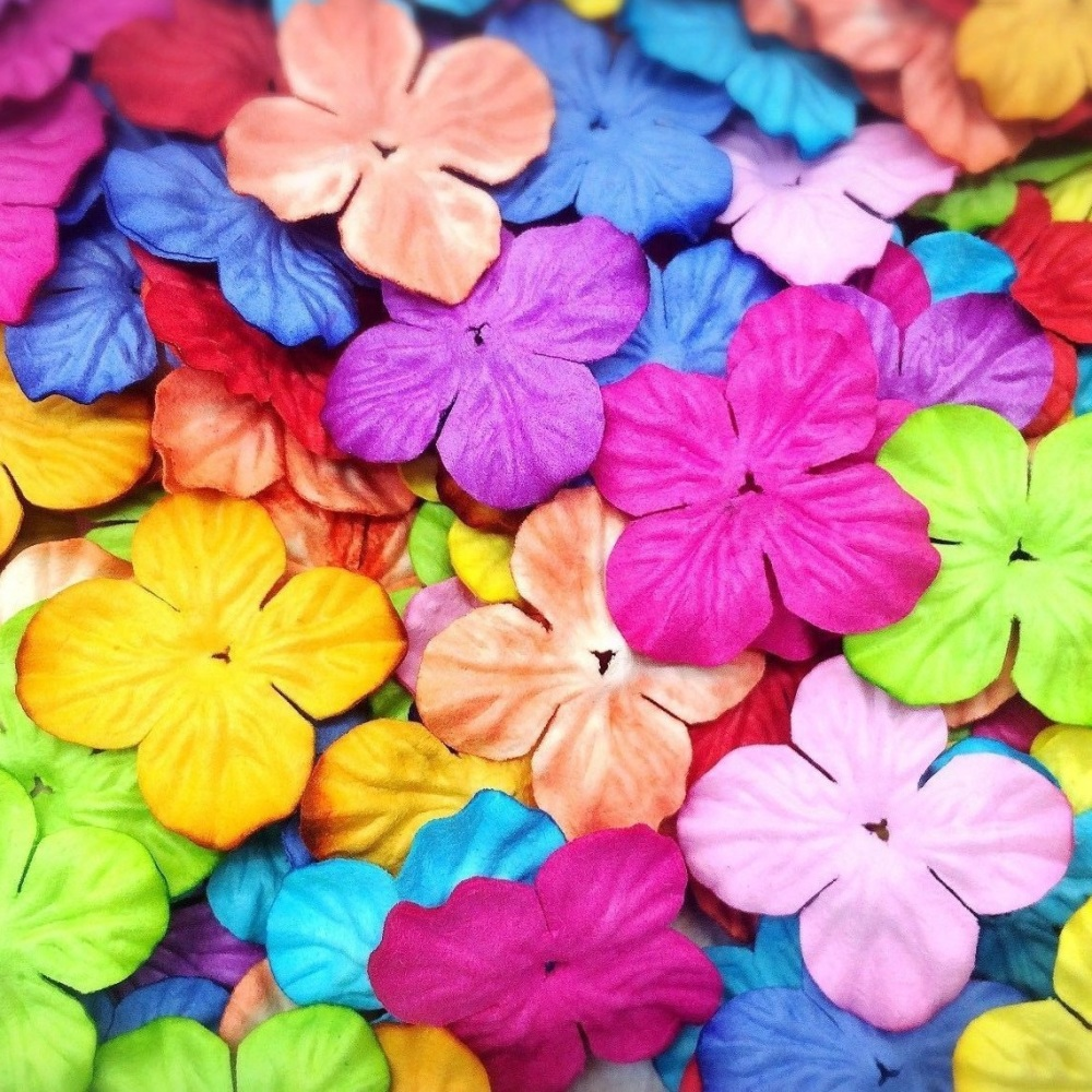 Mulberry Paper Hydrangea Flowers 25mm - Mixed Colours