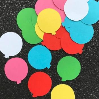 Bright Colour Balloon Die Cut Shapes x 50