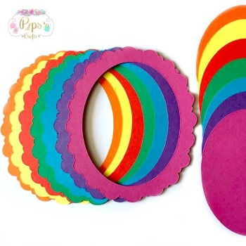 Oval Frame & Background Card Die Cut Shapes x 50
