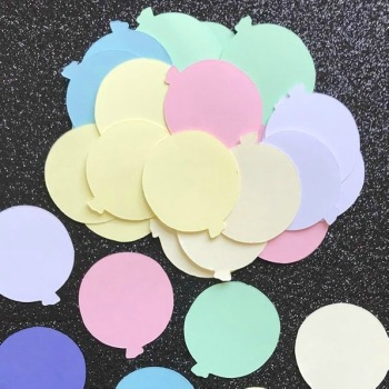 Pastel Colour Balloon Die Cut Shapes x 50