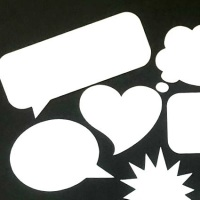 Speech Bubble Die Cut Shapes x 50