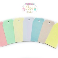 25 Large Pastel Colour Gift Tags