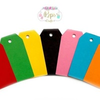 25 Large Bright Colour Gift Tags