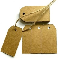 50 Kraft Card Gift Tags & Hessian String