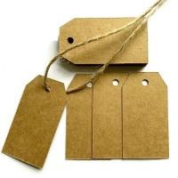 50 Kraft Card Gift Tags & Hessian String