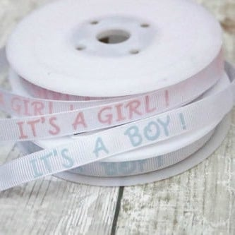 It's A Boy Grosgrain Ribbon 10mm Wide - Blue