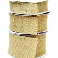 Hessian Burlap Cut Edge Ribbon - 32mm