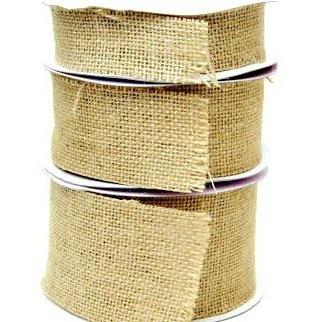 Hessian Burlap Cut Edge Ribbon - 50mm