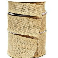 Hessian Burlap Wire Edge Ribbon - 32mm