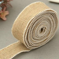 Hessian Burlap Pearl Edge Ribbon - 30mm