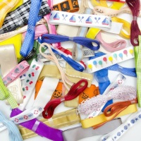10 Metre Bundle of Assorted Patterned and Plain Ribbons