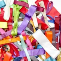 10 Metre Bundle of Assorted Plain Ribbons