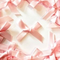 Mini Satin Fabric 7mm Ribbon Bows - Light Pink