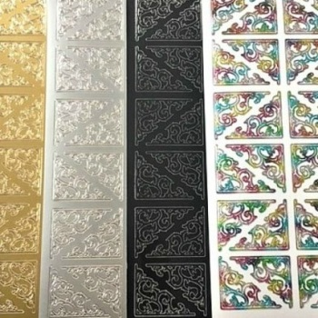 Large Ornamental Corners Peel Off Sticker Sheet