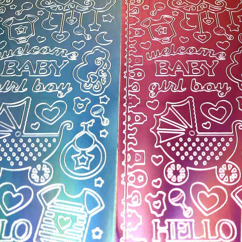 Welcome Baby Boy/Girl Peel Off Sticker Sheet