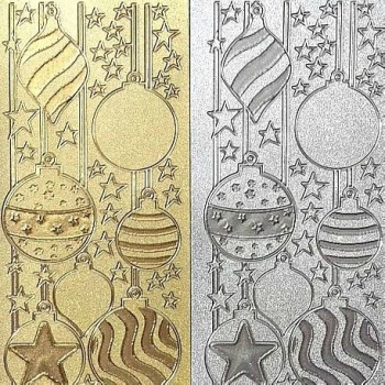 Sparkly Glitter Christmas Bauble Peel Off Sticker Sheet