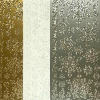 Snowflakes Peel Off Sticker Sheet