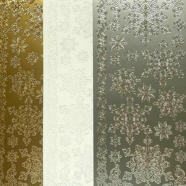 Snowflakes Peel Off Sticker Sheet