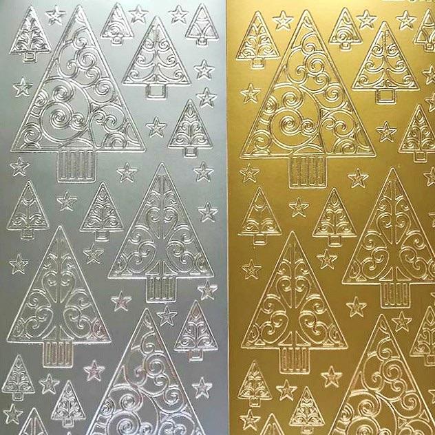 Christmas Trees Peel Off Sticker Sheet